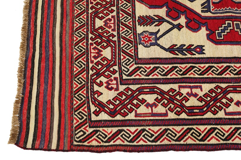 Persian Saghari hand woven wool rug cream red-prior-willis-antiques-4194-6-main-636800650930863879.jpg