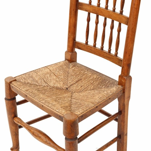 Victorian Lancashire elm kitchen dining chair