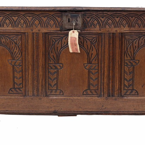 Georgian carved oak coffer
