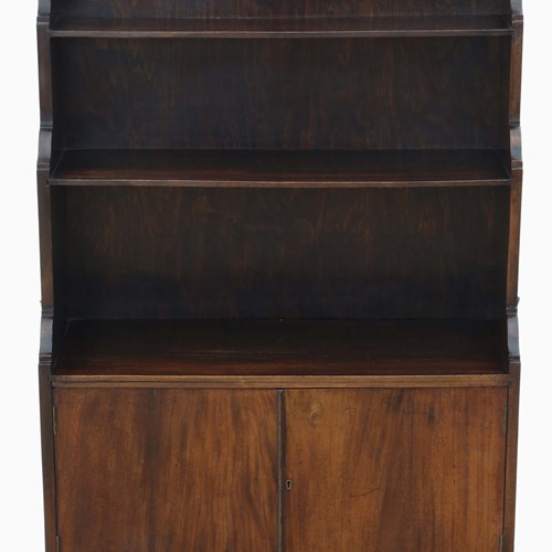 C1920 mahogany campaign waterfall bookcase