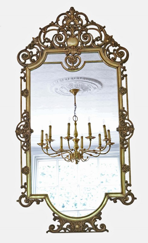 Antique large quality early 20th C brass mirror-prior-willis-antiques-7376-1-main-637040447616770695.jpg