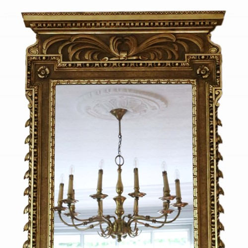 Antique large rare fine quality gilt mirror