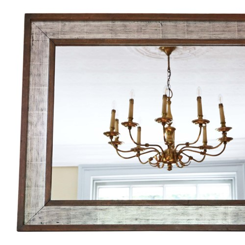 Silver gilt and mahogany wall mirror