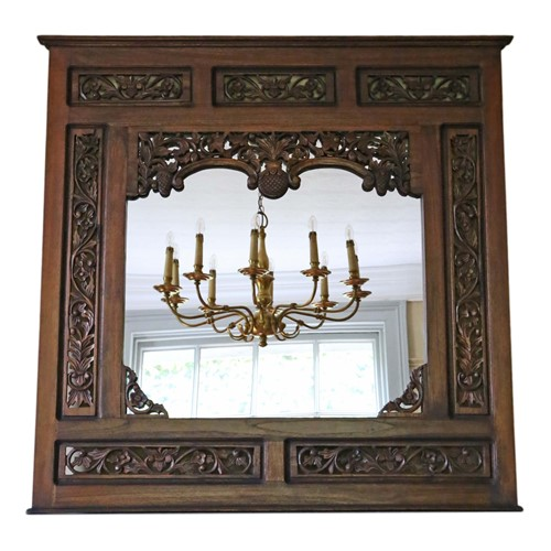 Large quality carved hardwood wall mirror