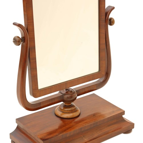 Regency C1825 mahogany dressing table swing mirror