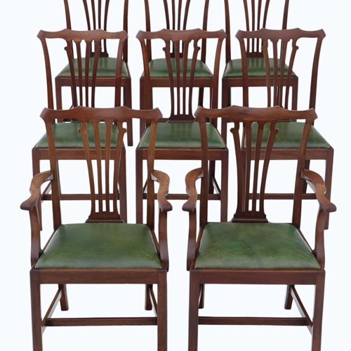 Set of 8 (6+2) mahogany dining chairs mid-19th C