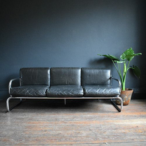 Vintage 3 Seater Leather Sofa