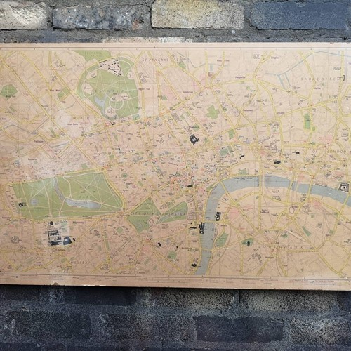 Vintage 1970s Map Of London By Geographers Map Co