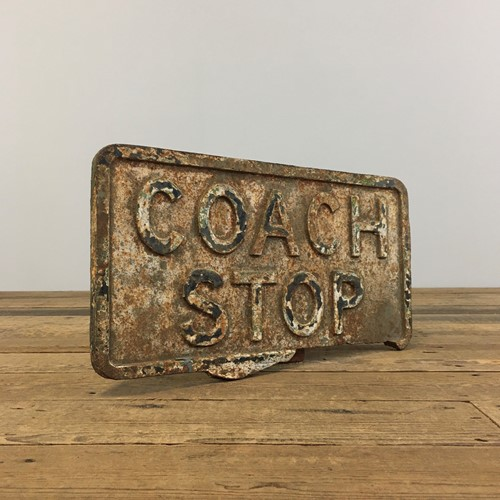 Cast Iron Petroliana Sign – Coach Stop