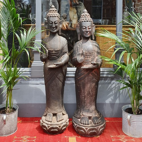 Hand Carved Temple Buddhas