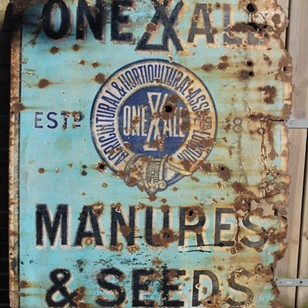Original Enamel Seed Sign