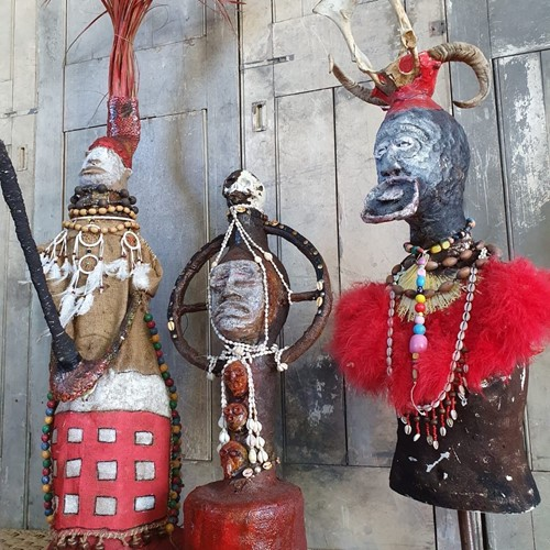 Trio of African Voodoo Figures