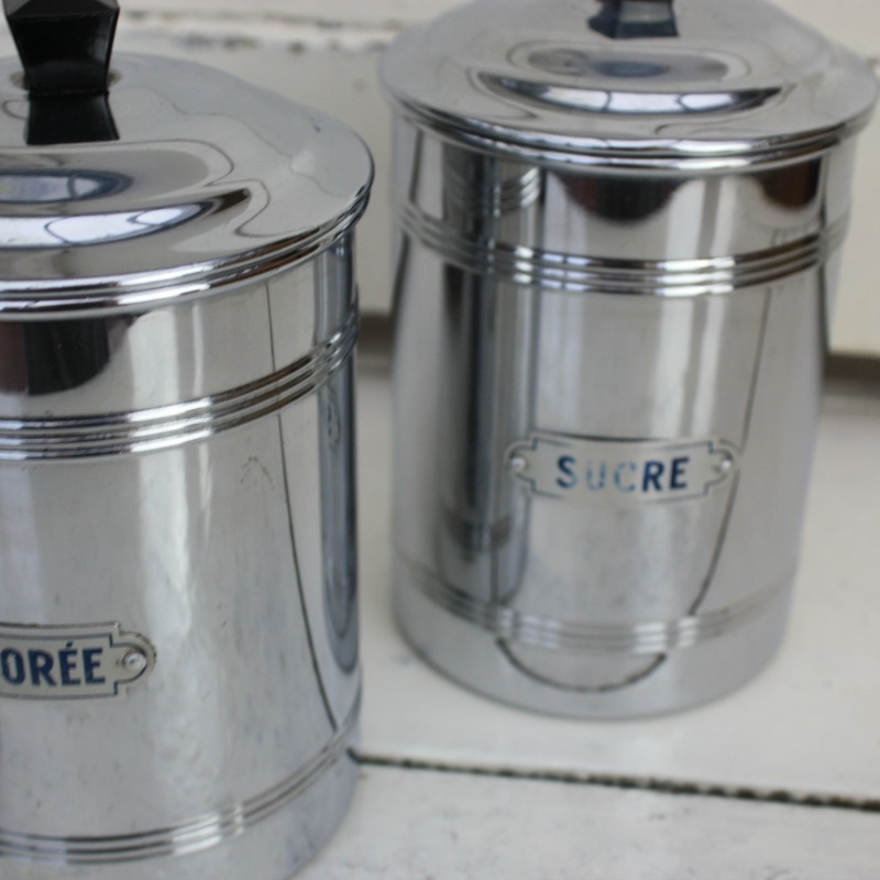 1950 s french chrome kitchen canisters the hoarde