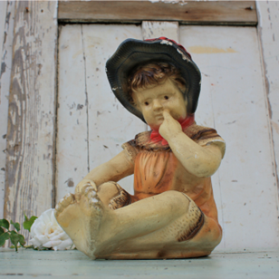 French Plaster Figure