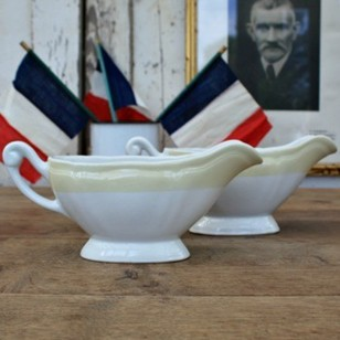 Pair of French Vintage Gravy Boats