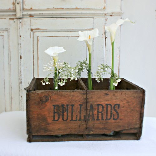 Original Old Wooden Beer Crate, Florist Display