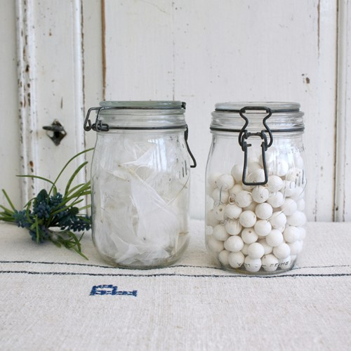Pair of French Storage, Canning ,or Preserve Jars