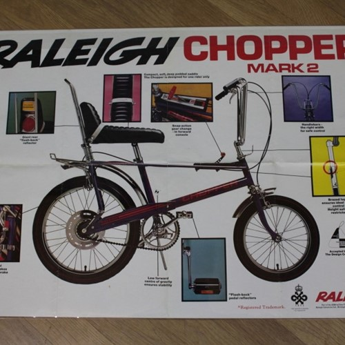 Vintage Raleigh Chopper Poster