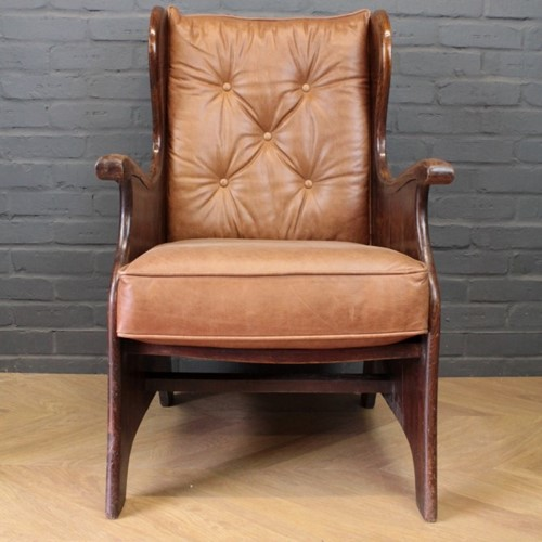 Pair of Elm Armchairs