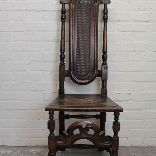 C19th Queen Anne Style Hall Chair