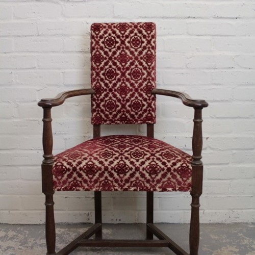 Arts and Crafts Upholstered Elbow Chair
