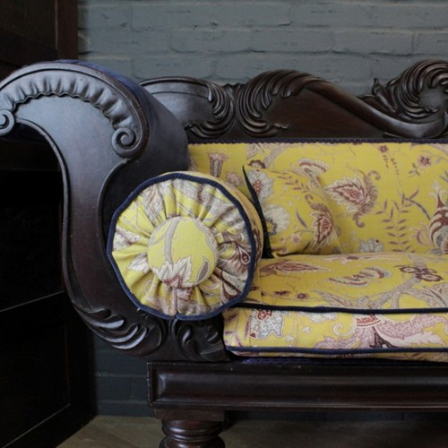 William IV Scroll Arm Sofa/Day Bed