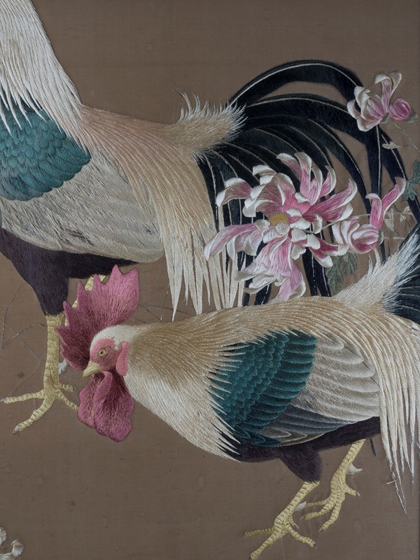 Exceptional Framed Meiji Embroidery-roche-coward-antiques-japanese-meiji-embroidery-chickens-00003-main-637267722320631310.jpg