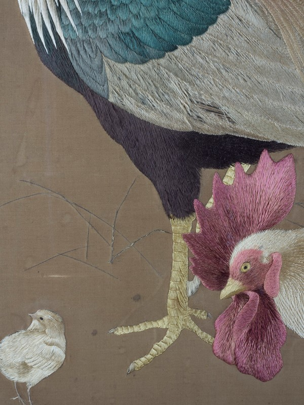 Exceptional Framed Meiji Embroidery-roche-coward-antiques-japanese-meiji-embroidery-chickens-00006-main-637267722915372848.jpg
