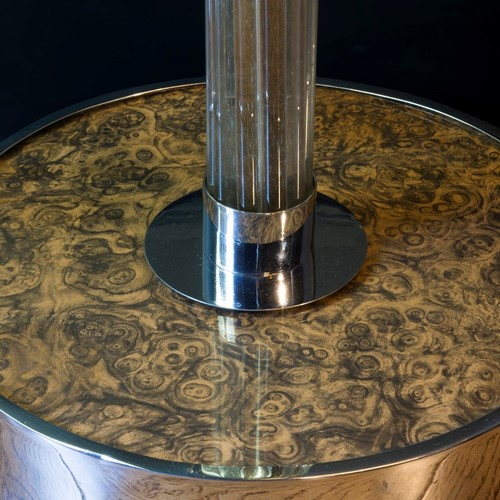 Glass deco floor lamp after Jean Michel Frank