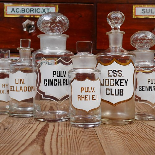 Group Of 19th Century Apothecary Bottles