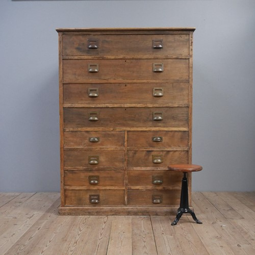 Huge Industrial Chest Of Drawers