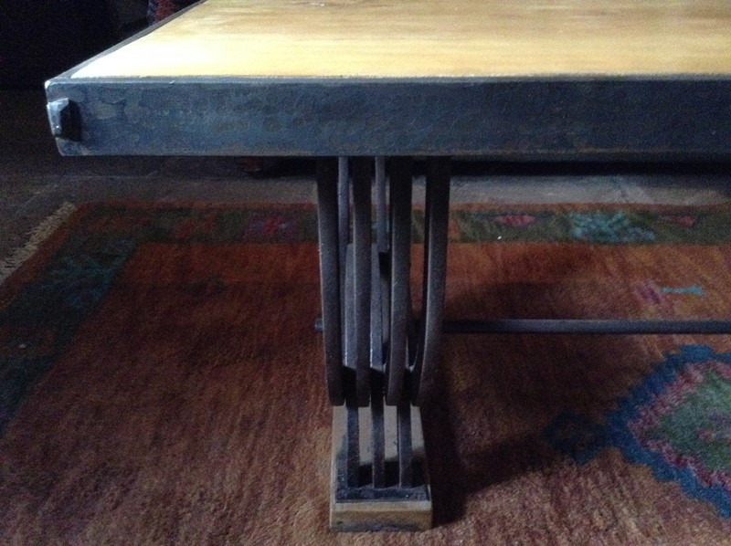 Industrial style steel and  walnut coffee table.-russell-wood-89edd2bf-da23-46e6-95d2-d170e3215cf6-main-636822881972373291.jpeg