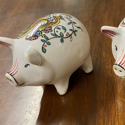 Salt & Pepper Pigs handpainted Portuguese