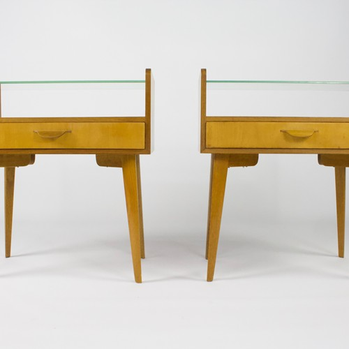 Pair of Midcentury Bedside Tables by Wk Möbel