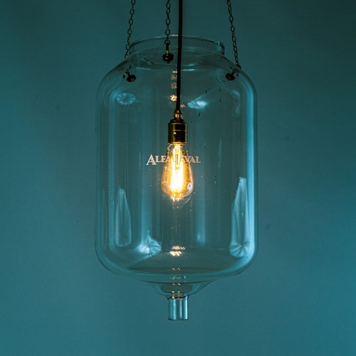60's Milk Parlour glass lights 'Receiver'