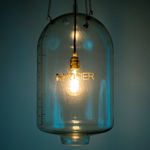 60's Milk Parlour glass lighting 'Milker'