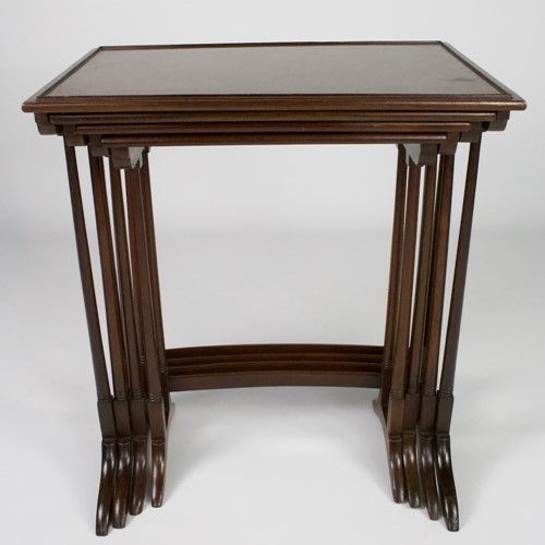 edwardian mahogany nest of tables