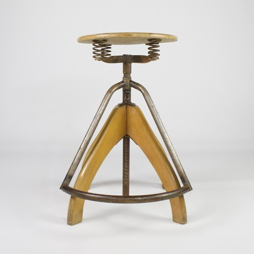 Industrial beech stool