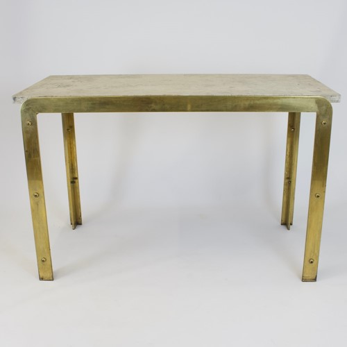 1970's Brass Console Table