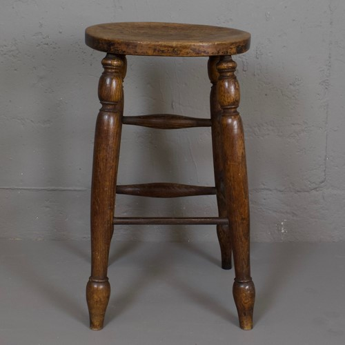 Ash and Elm Factory Stool