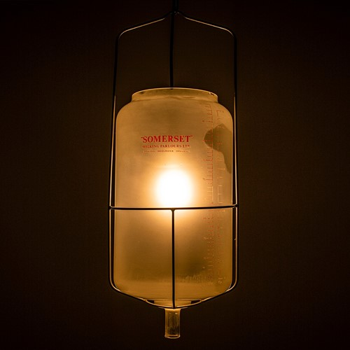 Somerset Milk Parlour glass light 'Receiver'