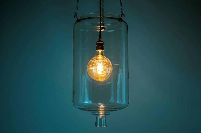 60's Milk Parlour glass light 'Receiver'-simon-jackson-weycroft-receiver-01-main-637112358897322862.JPG