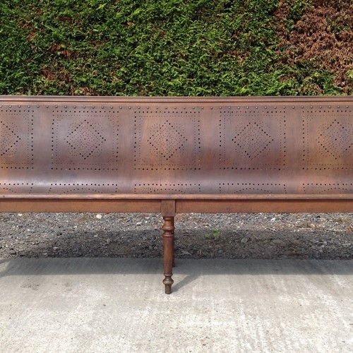 French railway station bench