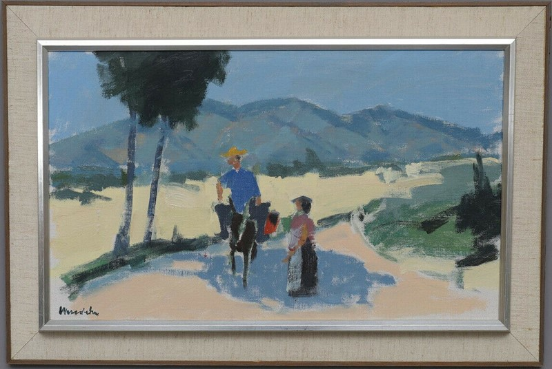 20th century signed oil-  figures sunny landscape-stag-gallery-kl-main-637424311886639798.jpg