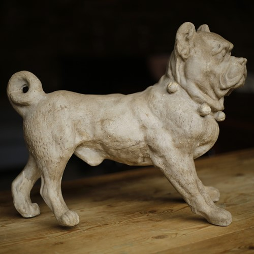 19th century plaster model of a dog
