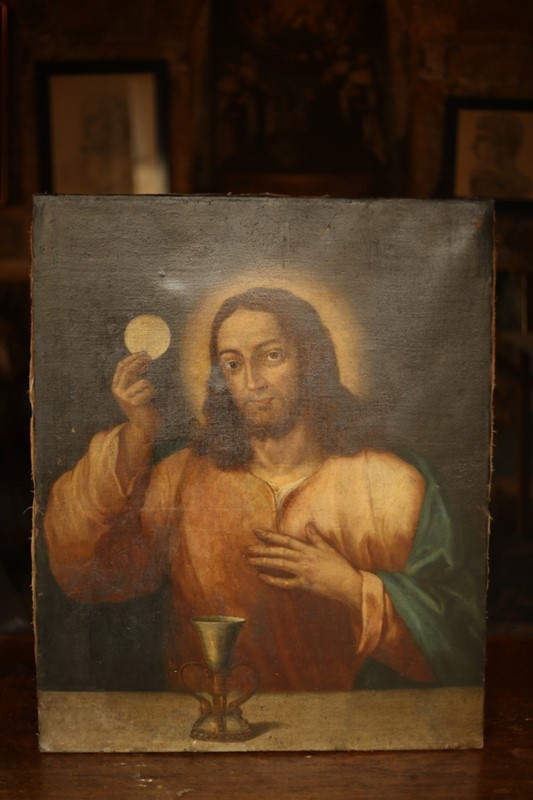 18th C Oil on canvas Christ holding the Eucharist-talboy-interiors-thumb_OJ1A7711_1024-main-636746722771672003.jpg