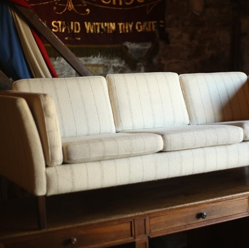 Mid 20thC Danish sofa upholstered in wool fabric