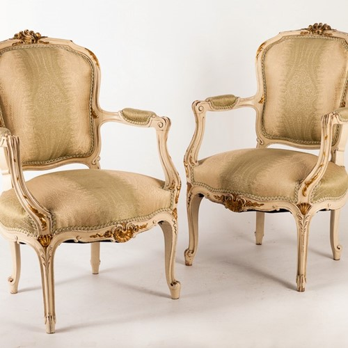 A Superb Pair of Continental Armchairs