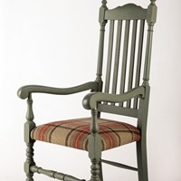 Painted Solid Oak Carver Chair
