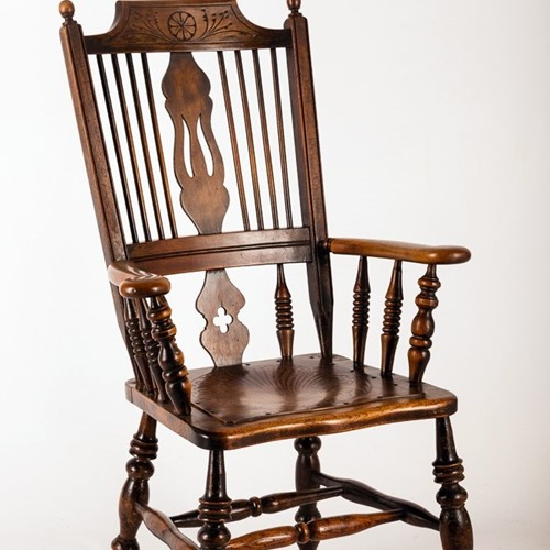Mid-nineteenth Century Spindle Back Kitchen Chair